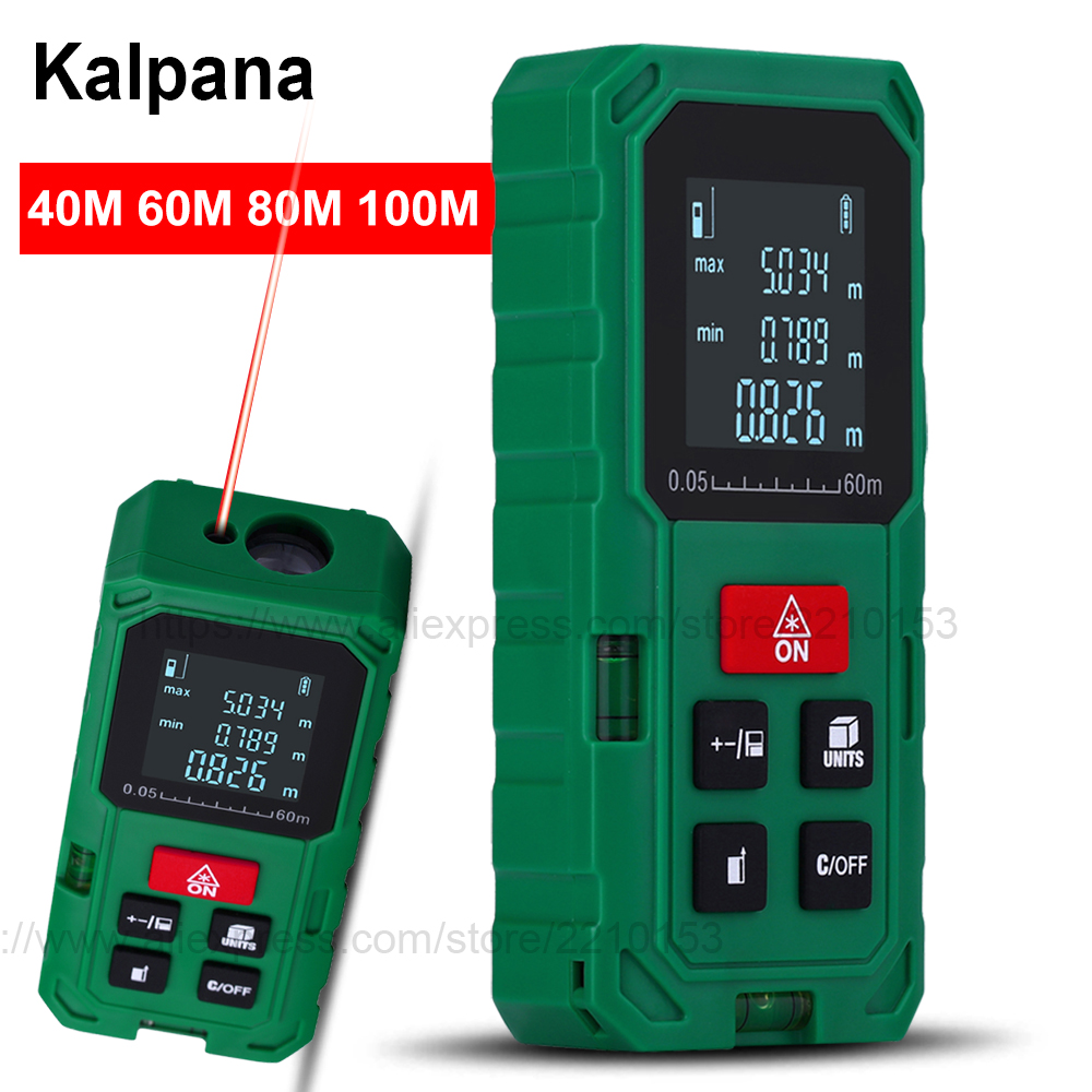 Green Laser Rangefinders 40M 60M 80M 100 Digital Laser Distance Meter Electronci Ruler Tools Handheld Electronci tape measure