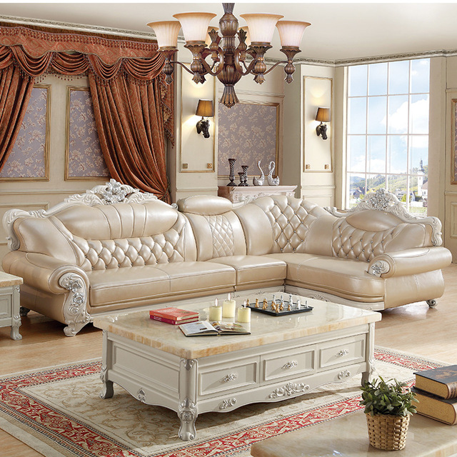 Direct Selling Living Room Furniture, Leather L Shape Sofa Set ...