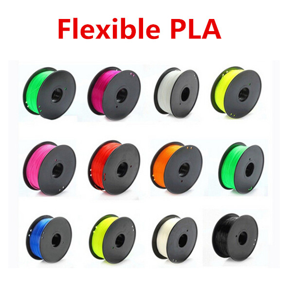 Flexible Consumables 1.75MM PLA multi Color For 3d printer filament MakerBot RepRap UP Mendel 3d printer parts filament for makerbot reprap up mendel 1 rolls filament pla 1 75mm 1kg consumables material for anet 3d printer