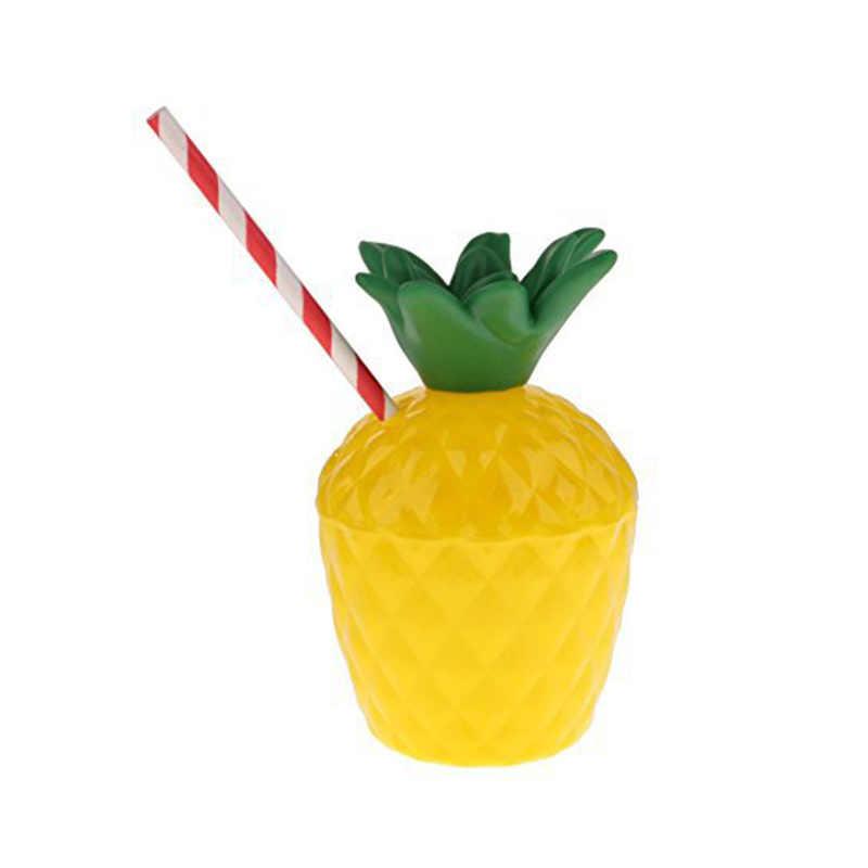 1 pc Brinquedos Da Novidade Beber Copos de Formato do fruto do Coco Abacaxi Tropical Hawaiian Luau Decorações da Festa de Aniversário Da Praia do Verão