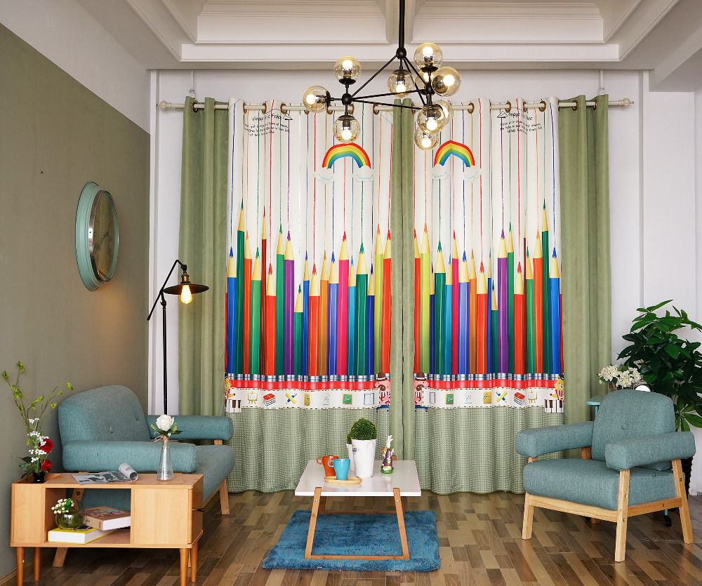 Patterned Curtains For Living Room Compare Prices On Green Patterned Curtains Online Shopping Buy