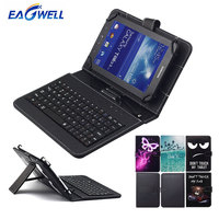 Cute Printing 10 Inch Universal Case Cover With USB Keyboard For Android Tablet For Samsung Tab