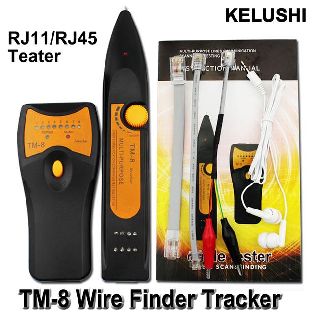TM-8 KELUSHI Cat5 Cat5E Cat6 Cat6E RJ45 LAN Red de Cable Tester Diagnóstico Tone Detector Perseguidor Del Alambre de Teléfono RJ11 Línea Buscador
