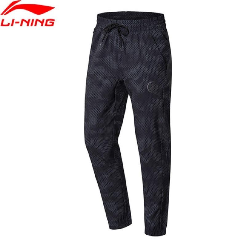 Li-Ning 2018 Men Wade Series Sweat Pants 90% Polyester 10% Spandex Comfort Elastic Li Ning Sports Pants AYKN141 inbike outdoor cycling polyester spandex jacket pants for men white black