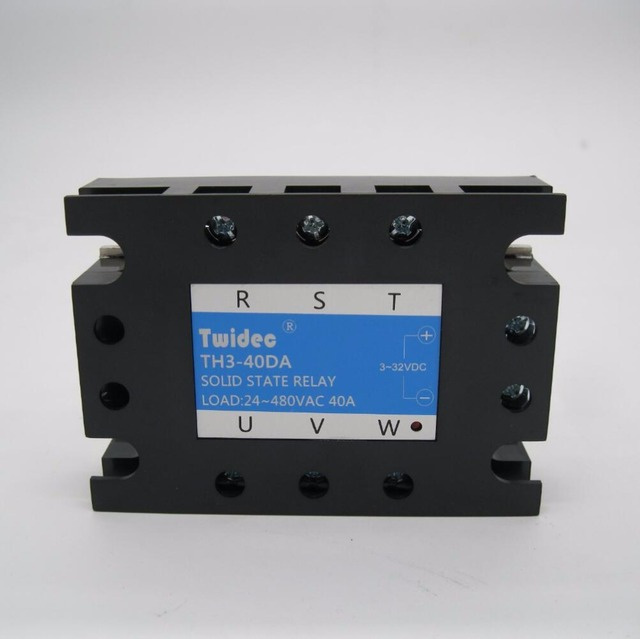 Twidec/ Three Phase Solid State Relay SSR 40DA Solid State Switch ...