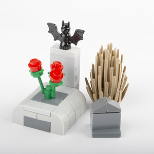 Image 3 - MOC Building Blocks Street Light Graveyard Accessory City Parts Bricks Cemetery Animal Snake Bat Grass Rose Plant Halloween D033
