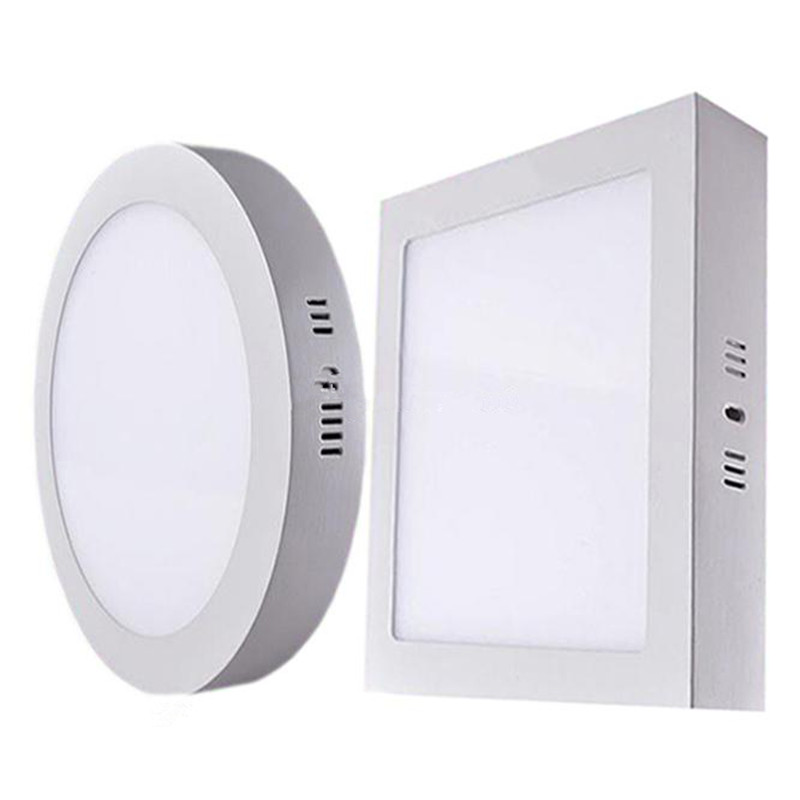 Aliexpress Buy 10pcs Round Square Samsung SMD2835 LED Panel Lights 9W 15W 21W 30W Super Bright Surface Mounted Ceiling Light Downlight From