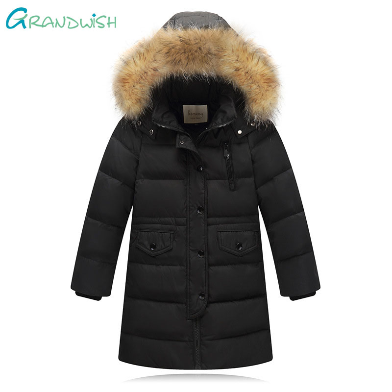 Grandwish Winter Down Jacket Parka for Girls Boys Coats 100% Down Jackets Children's Clothing for Outerwear & Coat 3T-14T, JC218 pcora down jacket for girls winter female child outwear khaki warm girl clothing size 3t 14t 2017 pink parka coat for baby girls
