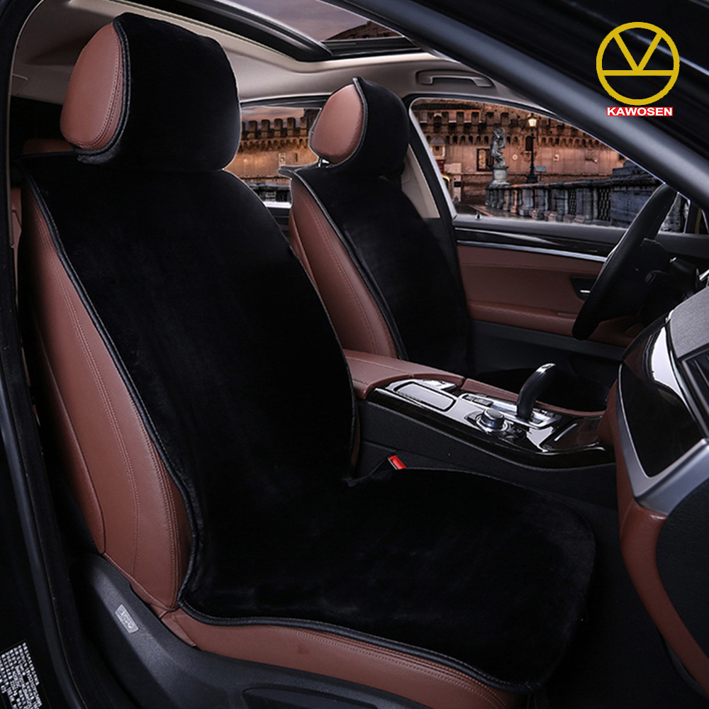KAWOSEN Faux Fur Car Seat Cover For 5 Seats Cute Car Interior AccessorieS Cushion Cover Styling