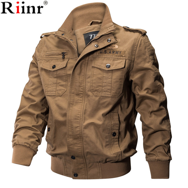 RIINR 2019 New Brand Military Jackets Men Autumn Army Pilot Bomber Jacket Air Force Men Windbreakers Tactical Combat Jackets