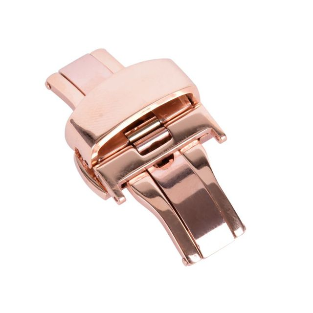 Automatic Double Click Butterfly Buckle Watch Automatic Push Button Fold Deploym