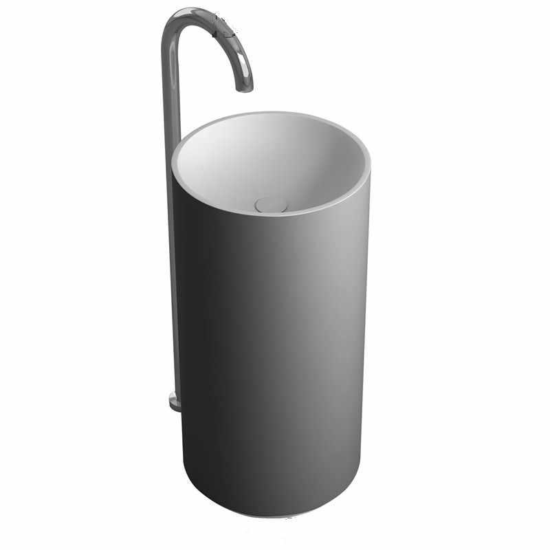 كوريان سطح الحمام رمى حوض طليق الصلبة مات غسل اليد بالوعة مرحاض الغرور بالوعة RS38235-1