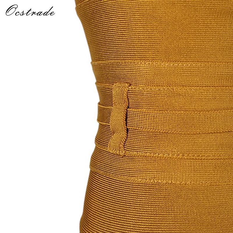 Ocstrade Women Bandage Dress 19 Rayon Sleeveless Summer New Arrivals Sexy Deep v Neck Vestido Bodycon Bandage Dress Club Party 17