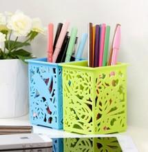 Hollow thickened plastic storage basket birds'twitter and fragrance of flowers desktop storage basket finishing box