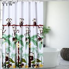Cartoon Bathroom Bath Shower Curtain Waterproof Moldproof Products Peva Screens Curtains Nordic Home Decor