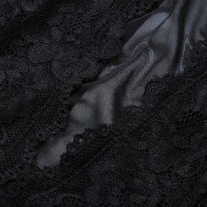 Image 5 - Lace Bodysuit Hollowout Back Women Lingerie Transparent Underwear Femme Bottom Closure Jumpsuits High Quality