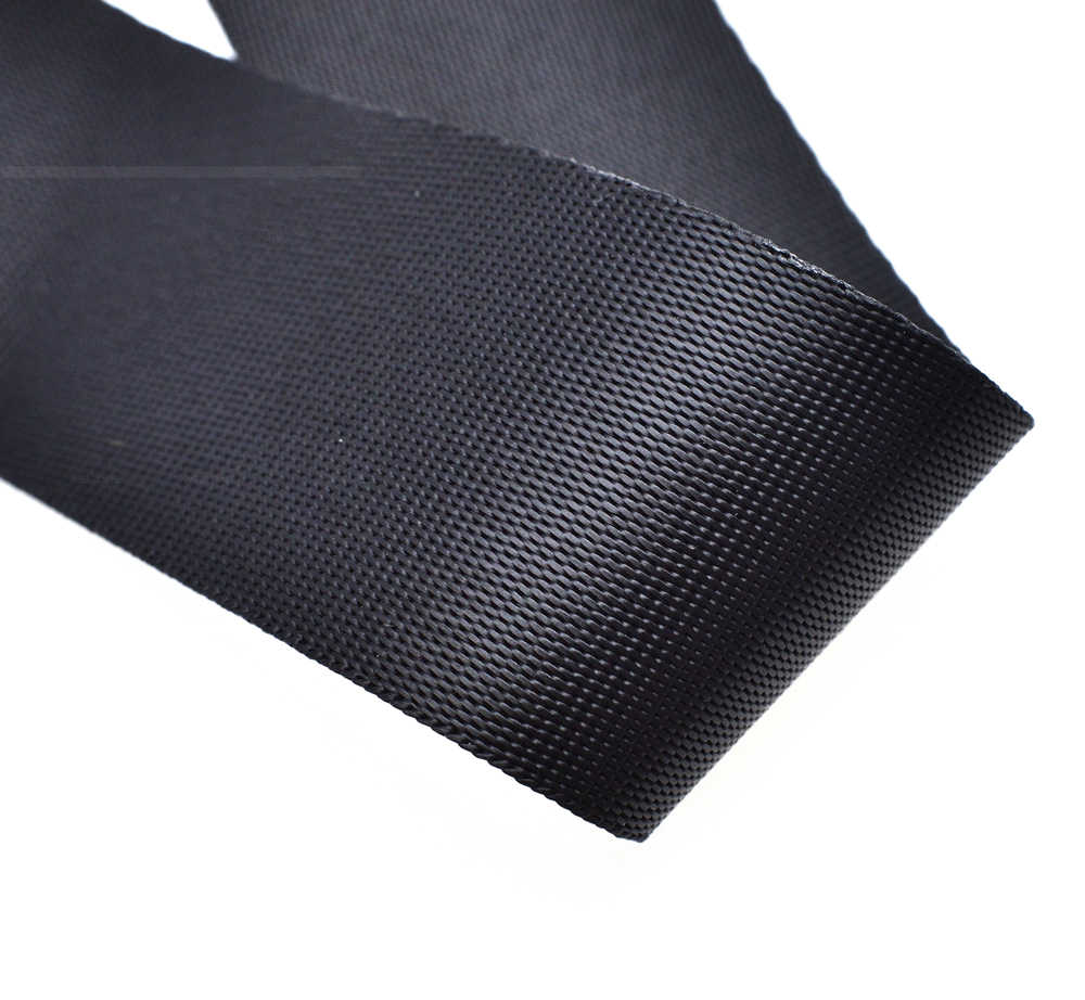 1 yarda de poliéster de fibra de cinta Correa cinta arnés collar de perro al aire libre mochila bolsa partes negro