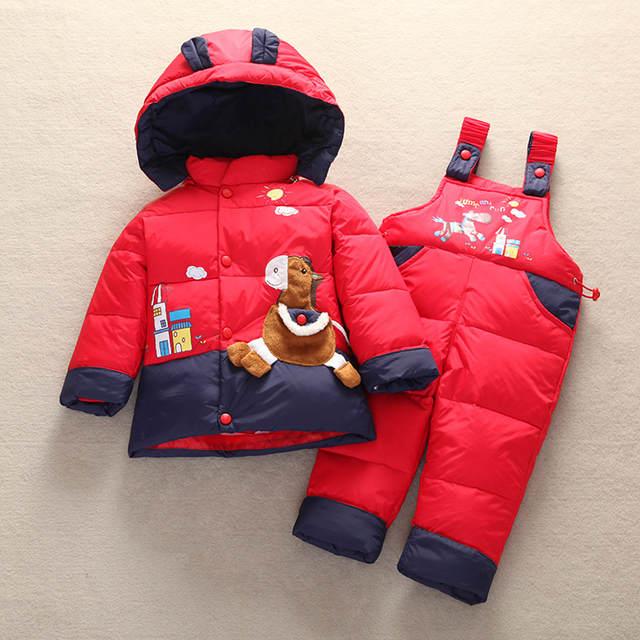 acbfed51f Online Shop Children s Winter Down Jackets For Girls Boys Snowsuit ...