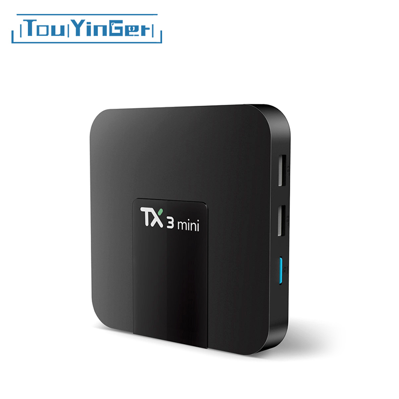Touyinger Set-Top-Box Media-Player Wifi Tx3 Mini Quad-Core Android Ultra HD 4K Amlogic-S905w