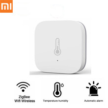 Xiaomi Mijia Aqara Temperature Humidity Sensor Environment Air Pressure Smart Home Zigbee Wireless Control by Mihome Gateway xiaomi aqara smart home kits gateway hub door window sensor human body wireless switch humidity water sensor for apple homekit