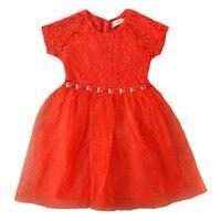Yeni bebek kız giysileri orange kırmızı prenses elbise çocuk gelinlik yürüyor zarif elbise pageant örgün parti kızlar elbiseler