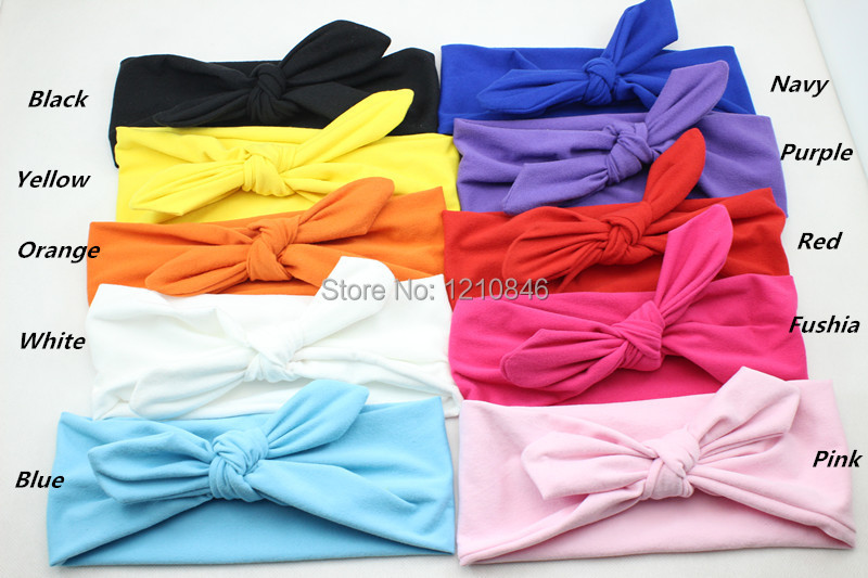 New children Headwrap Cotton Bow Knot Headband for Girl Hair Accessories Fashion Bunny Ears Bow Hairband Headwear Free Shipping bebe girl turban headband cotton bow knot kids headwrap hair bow hairband retro children elastic headwear hair accessories page 2