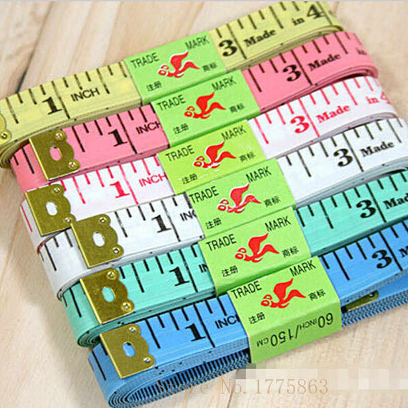 2Pcs Soft Tape Measures,Sewing Tailor Body Scale , Plastic Soft Ruler ,Gauging Tools 1.5M  AA7544