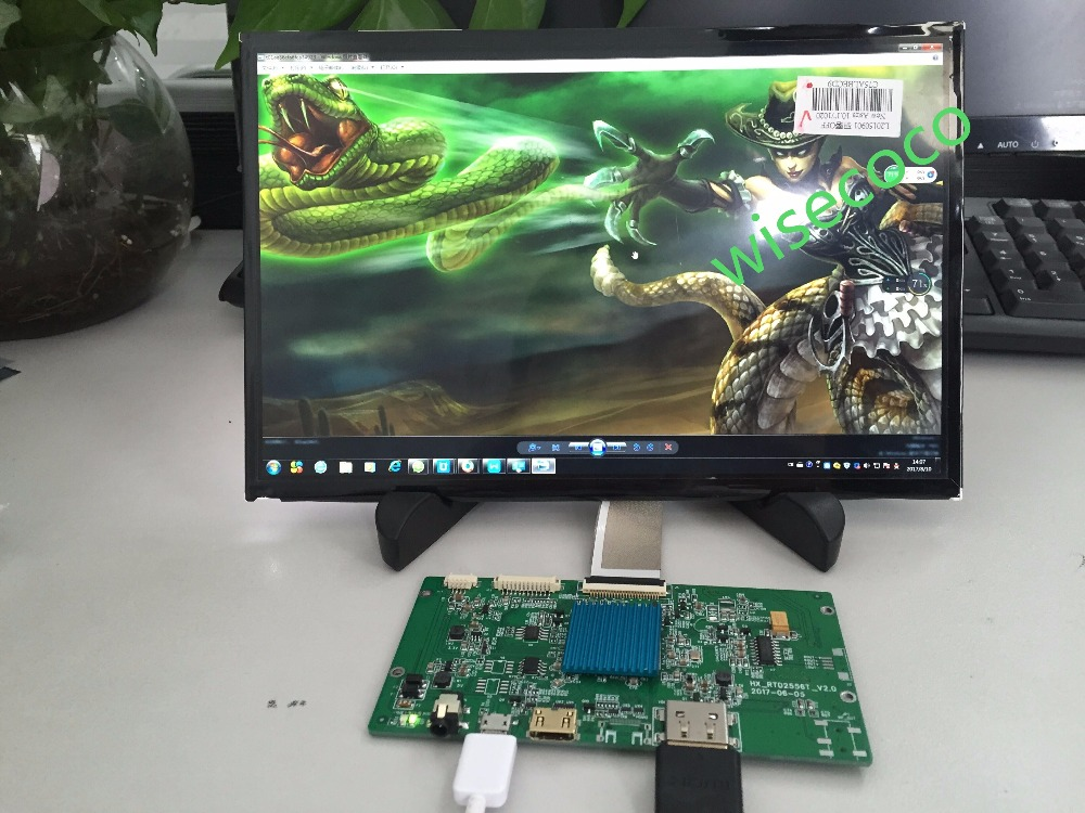 for 3D printer LCD Screen HDMI to MIPI Board 2560*1660 2K 10.1 inch TFT IPS Monitor Display
