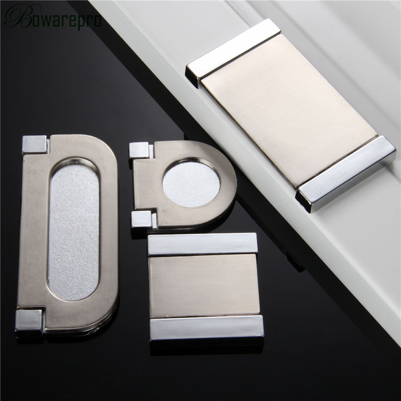 bowarepro Cupboard Drawer pull hands door knob sliding door concealed knobs hidden Recessed Pating window handles Surface Mount