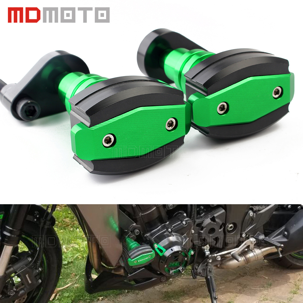 pair for kawasaki ninja z1000 Z1000sx Z 1000 sx 2010-2017 CNC Motorcycle Crash Pads Frame Sliders Protector Left&Right Motorbike motorcycle frame sliders crash engine guard pad aluminium side shield protector for kawasaki ninja zx6r 636 2009 2010 2011 2012