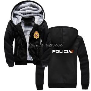 Image 3 - Espana Policia ספרד לאומי משטרת Espana Policia נים מהומות Swat כוחות מיוחדים סווטשירט גברים כותנה לשמור על מעילים חמים