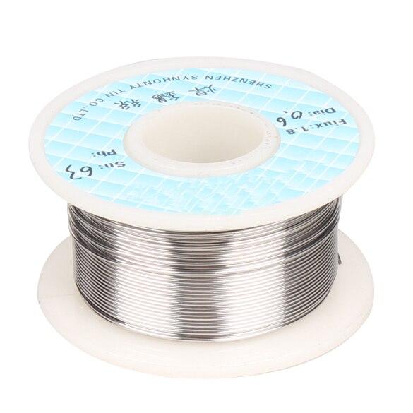 0.6mm 63/37 Tin Solder Soldering Welding Iron Wire Lead Melt Rosin Core Flux Soldering Welding Solder Spool Reel  цены