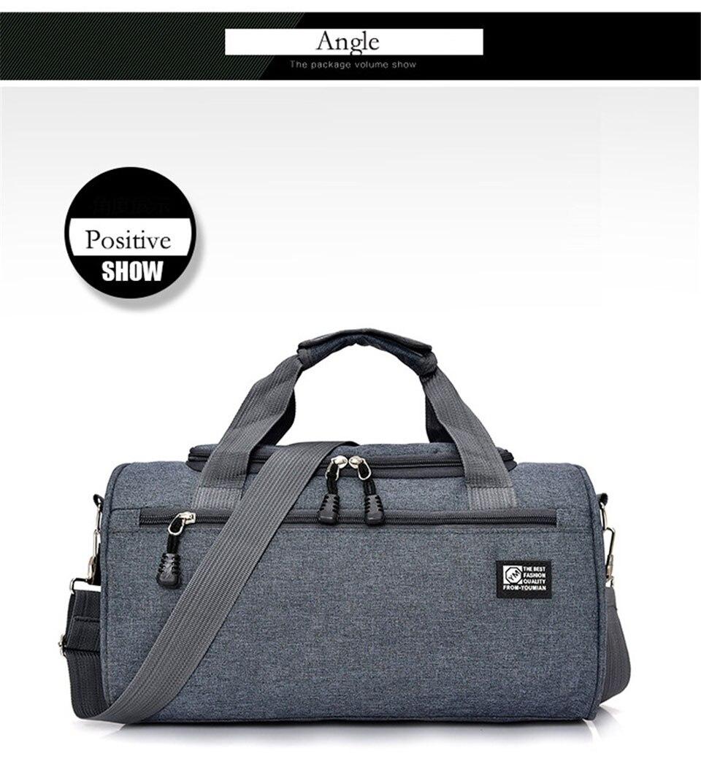 Bolsa de viagem fitness unissex, sacola de
