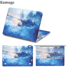 цена на Laptop Sticker for Xiaomi Mi Notebook Pro 15.6 Colorful Full Set Print Decal Vinyl Laptop Skin Sticker for Xiaomi Air 12 13 inch