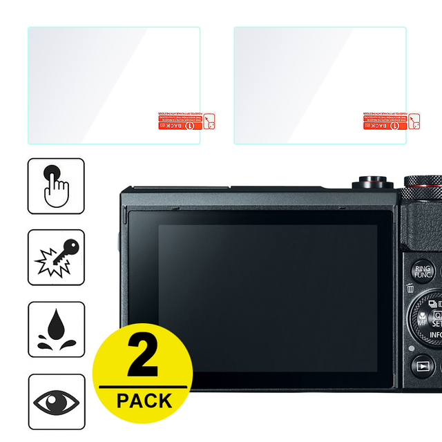 2x Tempered Glass Screen Protector for Canon Powershot G7X Mark III II G5X G9X G1X III EOS R RP M5 M6 M50 M100 M3 M10 M2 M