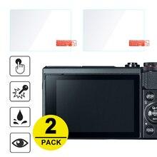 Protector de pantalla de vidrio templado para Canon Powershot G7X Mark III II G5X G9X G1X III EOS R RP M5 M6 M50 M100 M3 M10 M2 M, 2 uds.