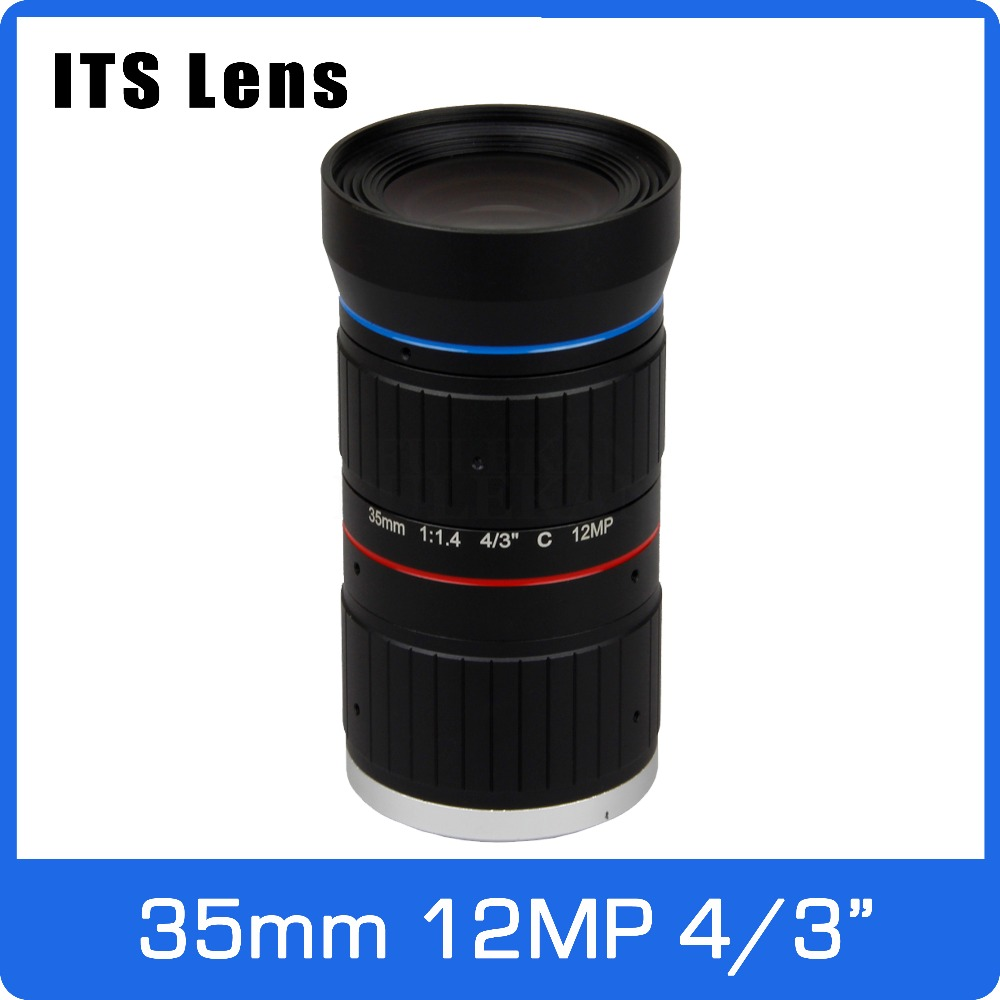 Video Surveillance Cctv Parts Adaptable 4/3 Inch 12mp Its Ultra 4k Lens 35mm Starlight F1.4 C Mount For Electronic Police Or Traffic Camera Strengthening Sinews And Bones
