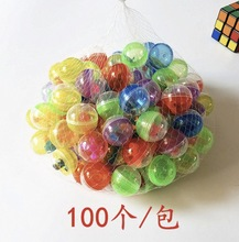 100Pieces/Lot  Diameter:32mm Colorful Plastic Toy Capsule Egg Shell Ball Vending Machine(included small toys)