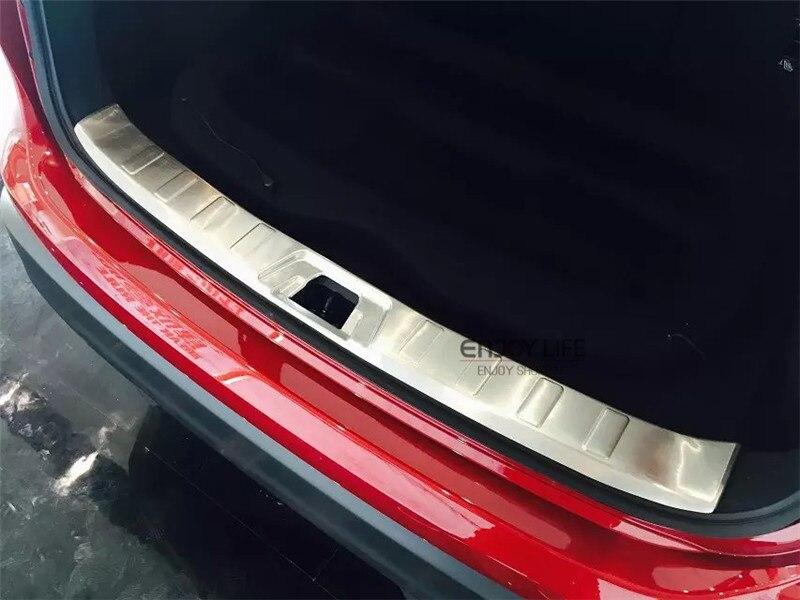 Protecteur de pare-chocs arrière intérieur hayon garde de coffre plaque de seuil seuil revêtement d'habillage pour Nissan Qashqai 2014 2015 + accessoires de voiture