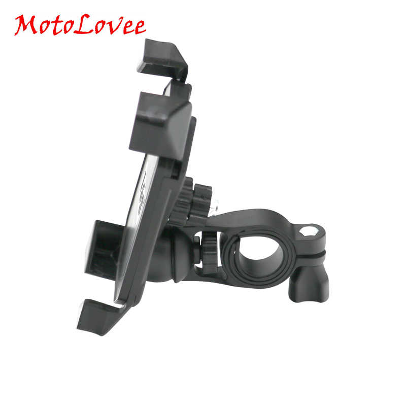 MotoLovee Universal Motorcycle 360 Degree Rotating Bracket Moblie Phone Holder for iPhone Samsung GPS
