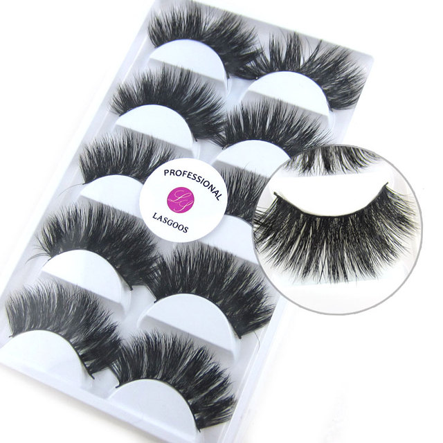 K  Pairs Lot Handmade Long Halloween Eyelash D Mink Strip Lashes Thick Party Fake