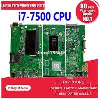 X441UA Motherboard mit 4G RAM i7-7500 Für ASUS X441UV X441U F441U A441U X441UR Laptop Mainboard Motherboard test 100% OK