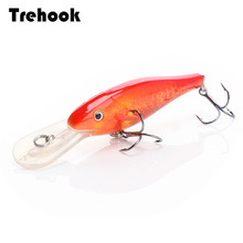TREHOOK Floating Wobbler Deep Diving Crankbait Fishing Lure 9cm 9g Hard Bait With #6 Hooks isca Artificial Fishing Tackle Lure