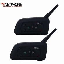 2018 2PCS V4 Bluetooth Motorcycle Intercom Interfone Helmet Headset Speaker Full Duplex Wireless Communicator Moto