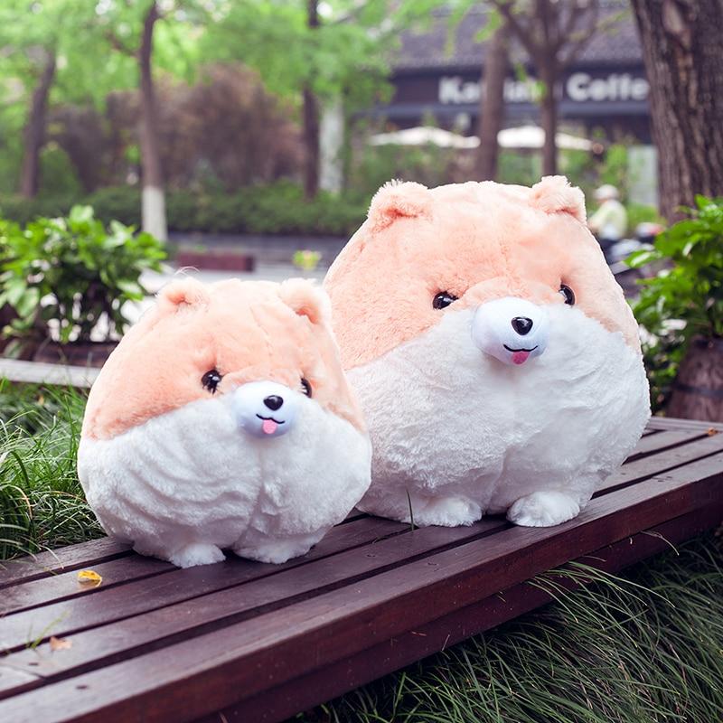 시뮬레이션 동물 인형 귀여운 인형 시뮬레이션 귀여운 인형 시뮬레이션 Pomeranian 개 장난감 인형 생일 크리스마스 선물 아이들을위한 선물