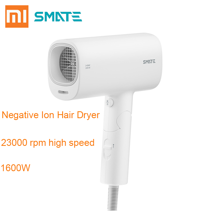 XIAOMI Mijia SMATE 1600W Hair Dryer Negative Ion Hair Care Quick Dry Portable Travel Foldable Handle Hairdryer Xiaomi YoupinXIAOMI Mijia SMATE 1600W Hair Dryer Negative Ion Hair Care Quick Dry Portable Travel Foldable Handle Hairdryer Xiaomi Youpin