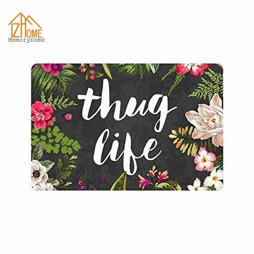 Memory Home Thug Life Flowers Doormat Funny Floor Mat Rug Indoor