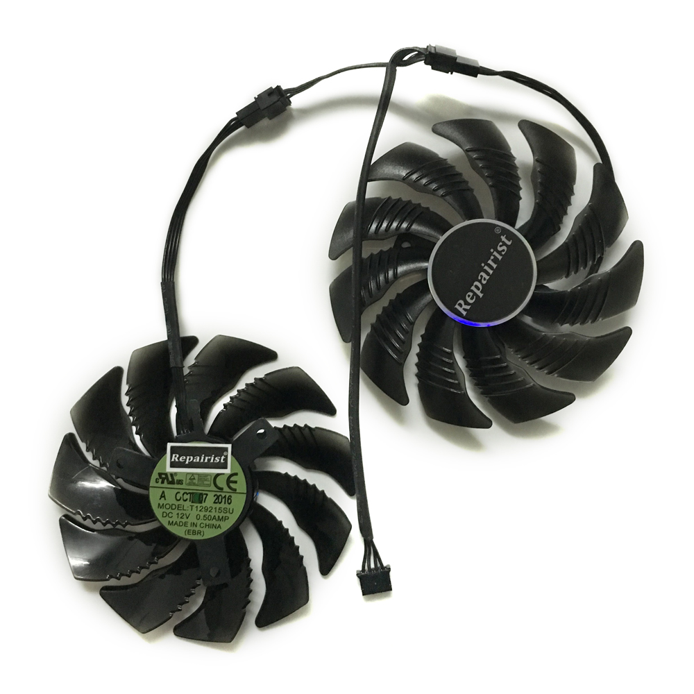 GPU Cooler T129215SU 90mm Graphics Card fan For GeForce Gigabyte GTX1070 GV-N1070WF2OC GV-N1070WF2 WINDFORCE As Replacement 2pcs lot pld08010s12hh 75mm dc 12v 0 35a 4pin dual cooler fan as replacement for msi twin frozr iii graphics video card