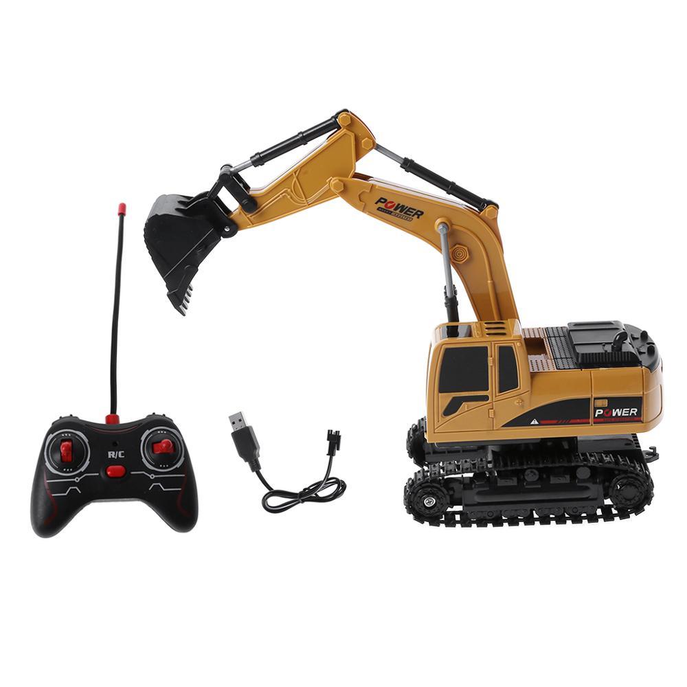 Fernbedienung Spielzeug Rc-lastwagen Rc Lkw 2,4g 1:24 Fernbedienung Bagger Fahrzeug 6 Kanäle Lade Modell Spielzeug Led Licht Simulation Sound Profitieren Sie Klein