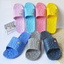 цены Summer lovers slippers home female summer slip-resistant at home male plastic bathroom acupoint massage slippers